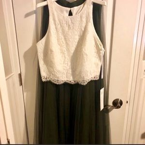 revelry Dresses - ❗️Sale NWT Cream Green Prom Wedding Formal Dress